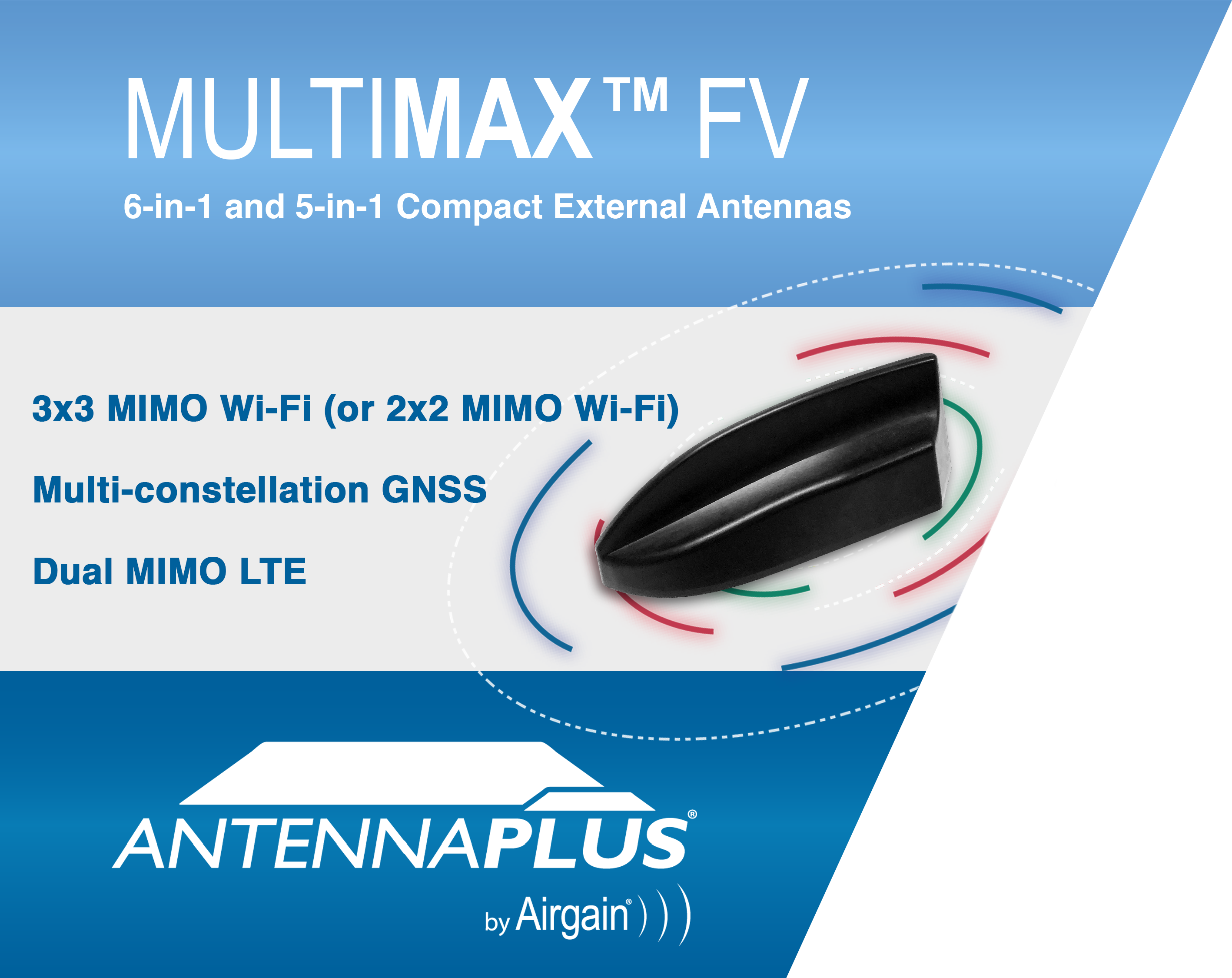 Airgain Announces new MULTIMAX FV 6-in-1 and 5-in-1 High Performance Antennas for Fleet Solutions (G ...