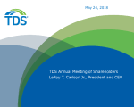 TDS Annual Meeting Presentation