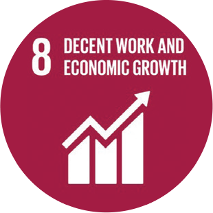 Decent Work and Economic Growth Icon