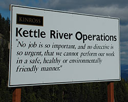 Kettle River safety sign
