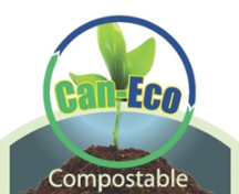can eco compostable logo