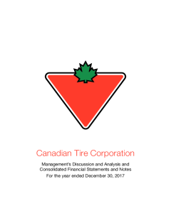 Canadian Tire Corporation, Limited - Investors - Financial Reporting