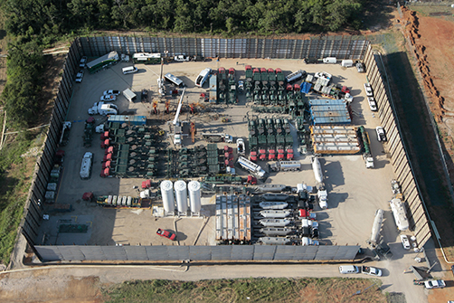 FTS International well completion operation