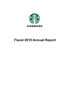 Starbucks Investor Relations  Letter To Shareholders Example